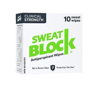 SweatBlock Clinical Strength Antiperspirant Wipes