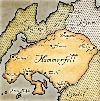 elder scrolls hammerfell map