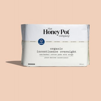 Organic Non-Herbal Incontinence Overnight Pads with Wings