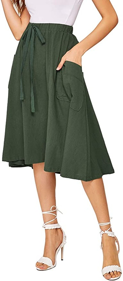 SweatyRocks Pleated A-Line Skirt