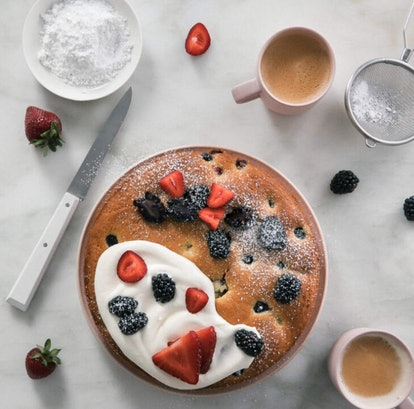 Olive oil berry cake.