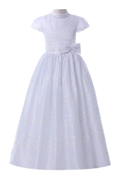 First Communion Gown with Ribbon