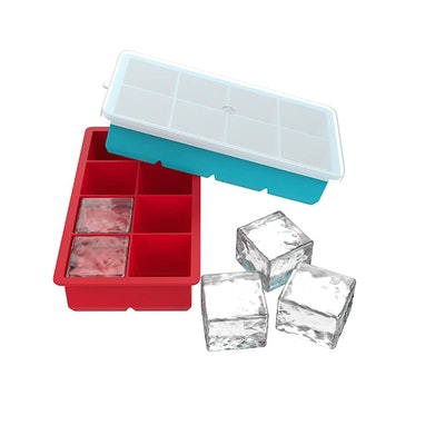 Vremi Large Silicone Ice Cube Trays (2-Pack)
