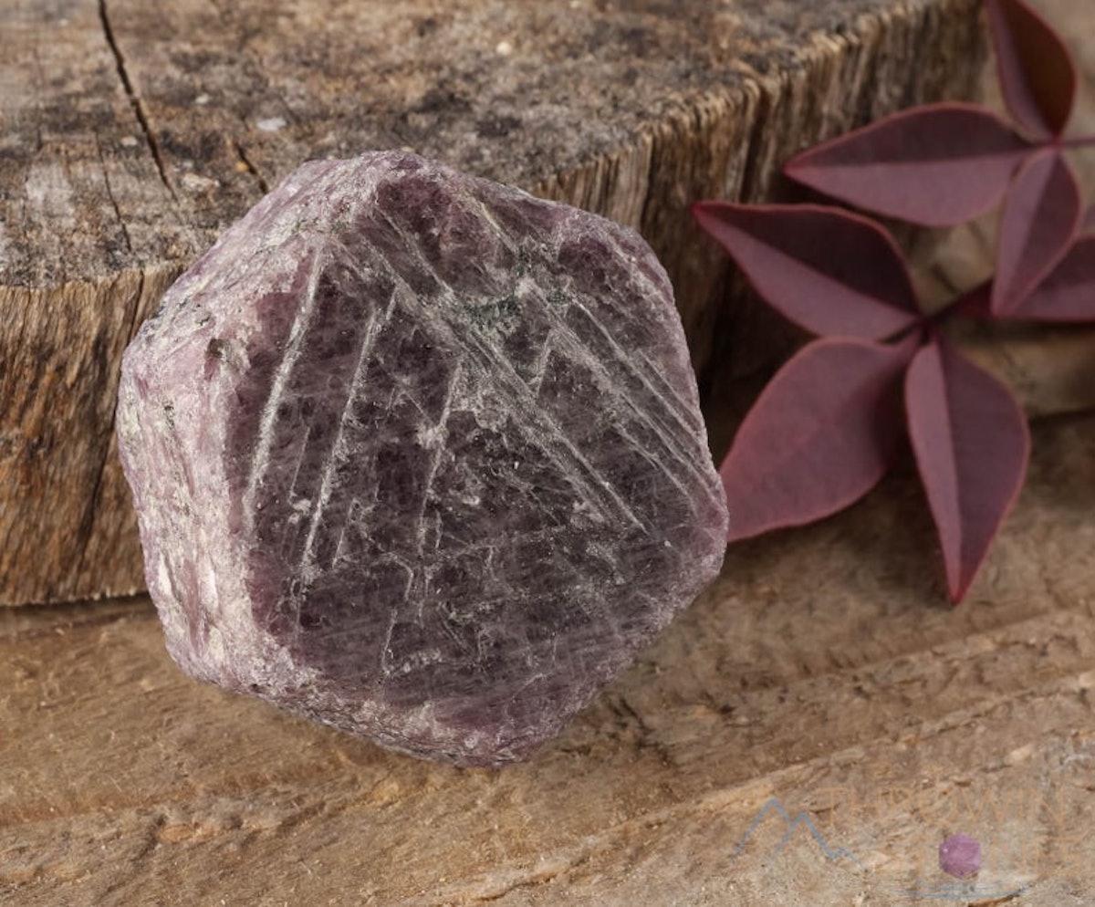 RUBY Raw Crystal - Record Keeper Ruby, Hexagon, Corundum, Birthstone, Gemstone, Raw Ruby Stone, E0063