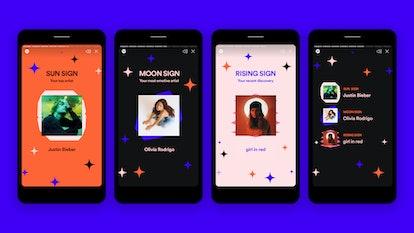 Ada enam tema / pengalaman interaktif dalam pengalaman aplikasi Spotify's only you.