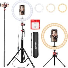 UEGOGO Selfie Ring Light with Tripod