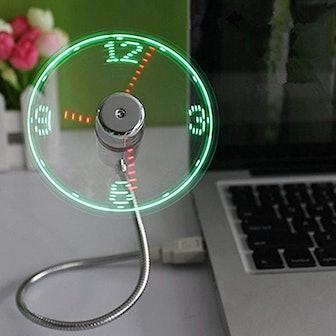 ONXE LED USB Clock Fan