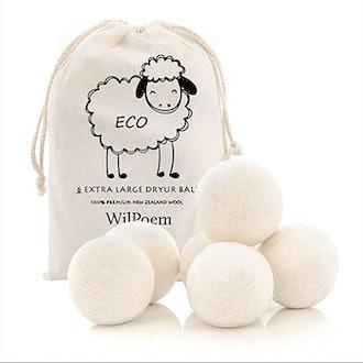WilPoem Nature Wool Dryer Balls