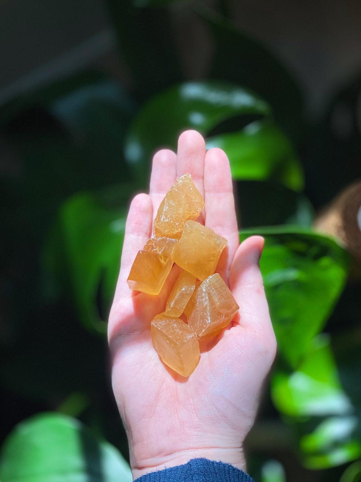 Honey Calcite Raw Crystal