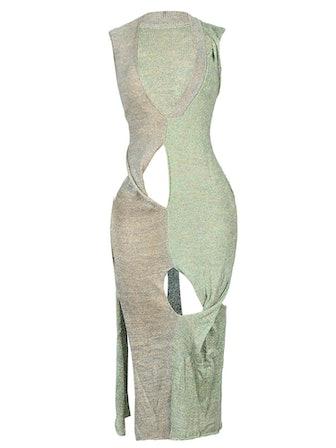 Two Tone Handmade Sleeveless Dress