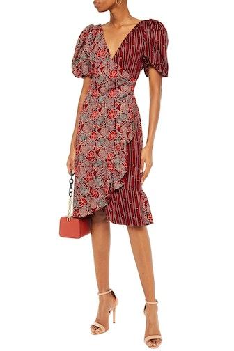 Catherine Wrap-Effect Printed Dress