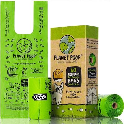 Planet Poop Compostable Dog Poop Bag for Small Dog Breeds (60 Count)