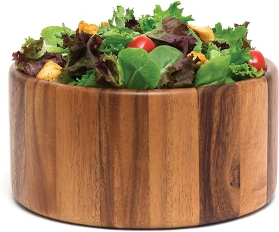 Lipper International Acacia Straight-Side Serving Bowl
