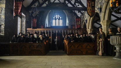 Image of Anne Boleyn's trial at Great Kings Hall