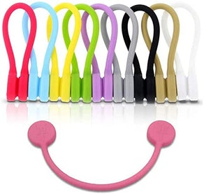 TwistieMag Strong Magnetic Silicone Twist Ties (10-Pack)