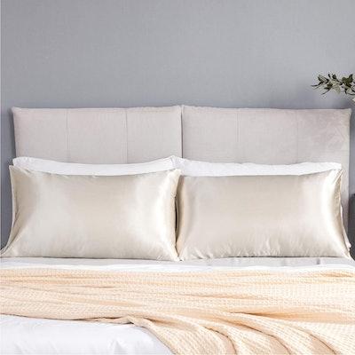 Bedsure Satin Silky Pillowcases (2-Pack)