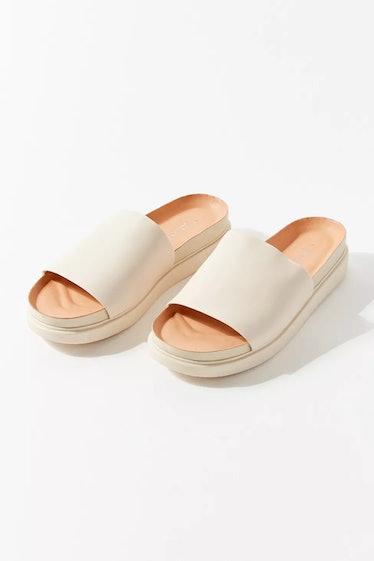 Erin Leather Slide Sandal