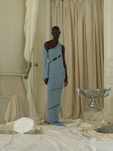 Axis Rib-knit Dress (Ocean)