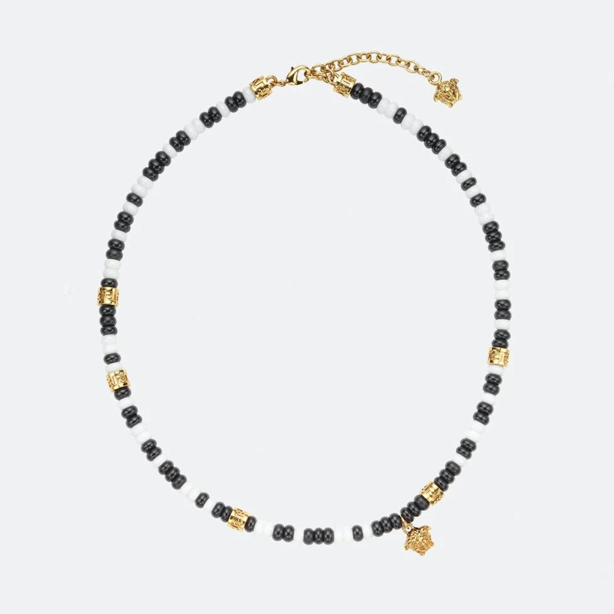 Versace Medusa Beaded Necklace