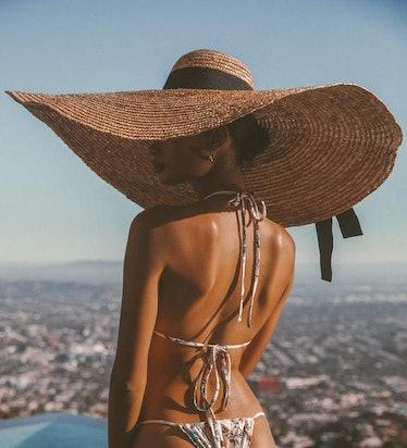 LURELLY OVERSIZED STRAW HAT