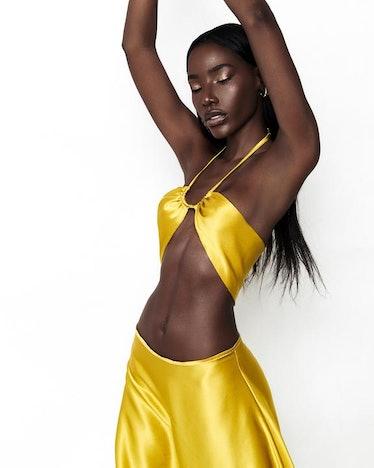 Dahlia Silk Halter Top