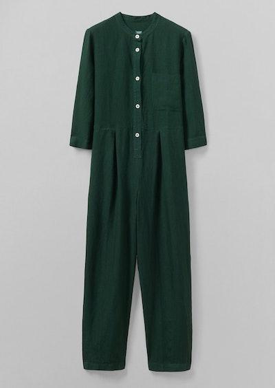 Garment Dyed Linen Jumpsuit