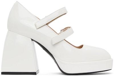 White Patent Bulla Babies Heels