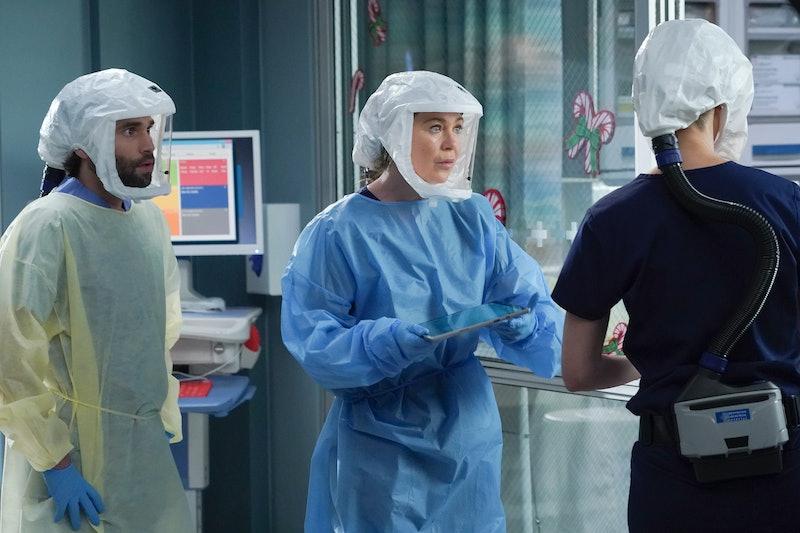 Ellen Pompeo as Meredith Grey in the 'Grey's Anatomy' Season 17 finale via ABC's press site