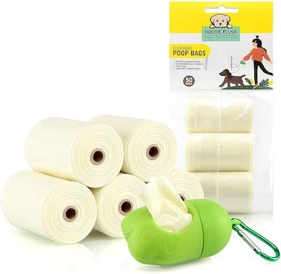 Doodie Flush Dog Poop Bag (50 Count)
