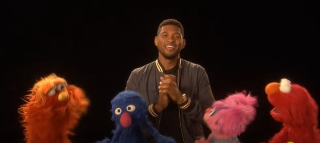 Usher appeared on Sesame Street in 2013.