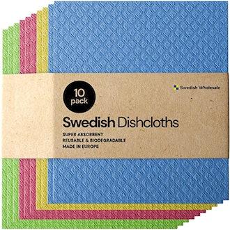 Swedish Absorbent Eco-Friendly Dishcloth (10-Pack)