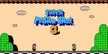 super mario bros 3 title screen
