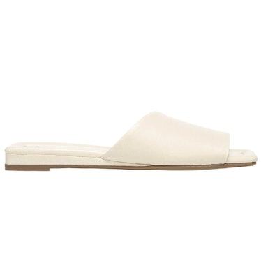 Bordo Sandal in Cream Leather