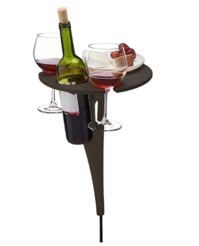 Outdoor Wine Table with Bottle Holder