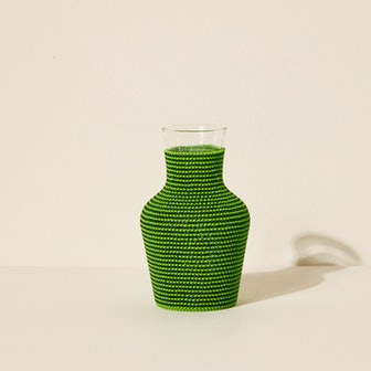 Beaded Water Carafe - Green