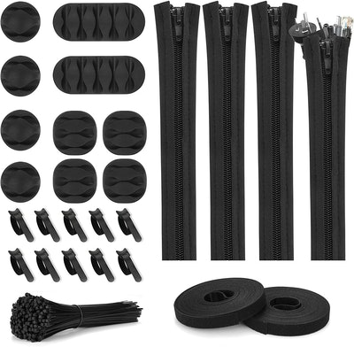 Topbooc Cord Management Kit (124 Pieces)