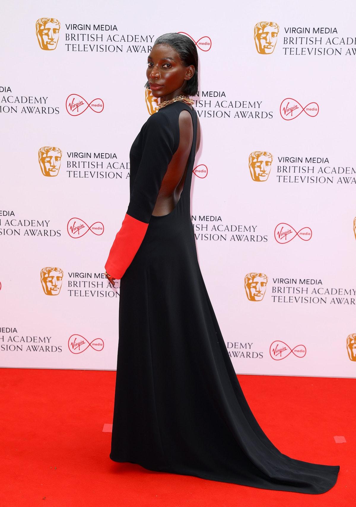 Michaela Coel at the 2021 BAFTAs