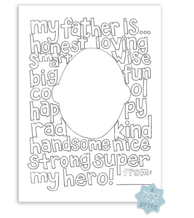 Free Father's Day Coloring Page
