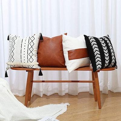 GALMAXS7 Boho Throw Pillow Covers (4-Pack)