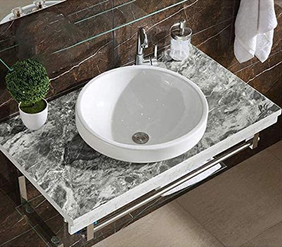 HELLKIT Gray Marble Contact Paper