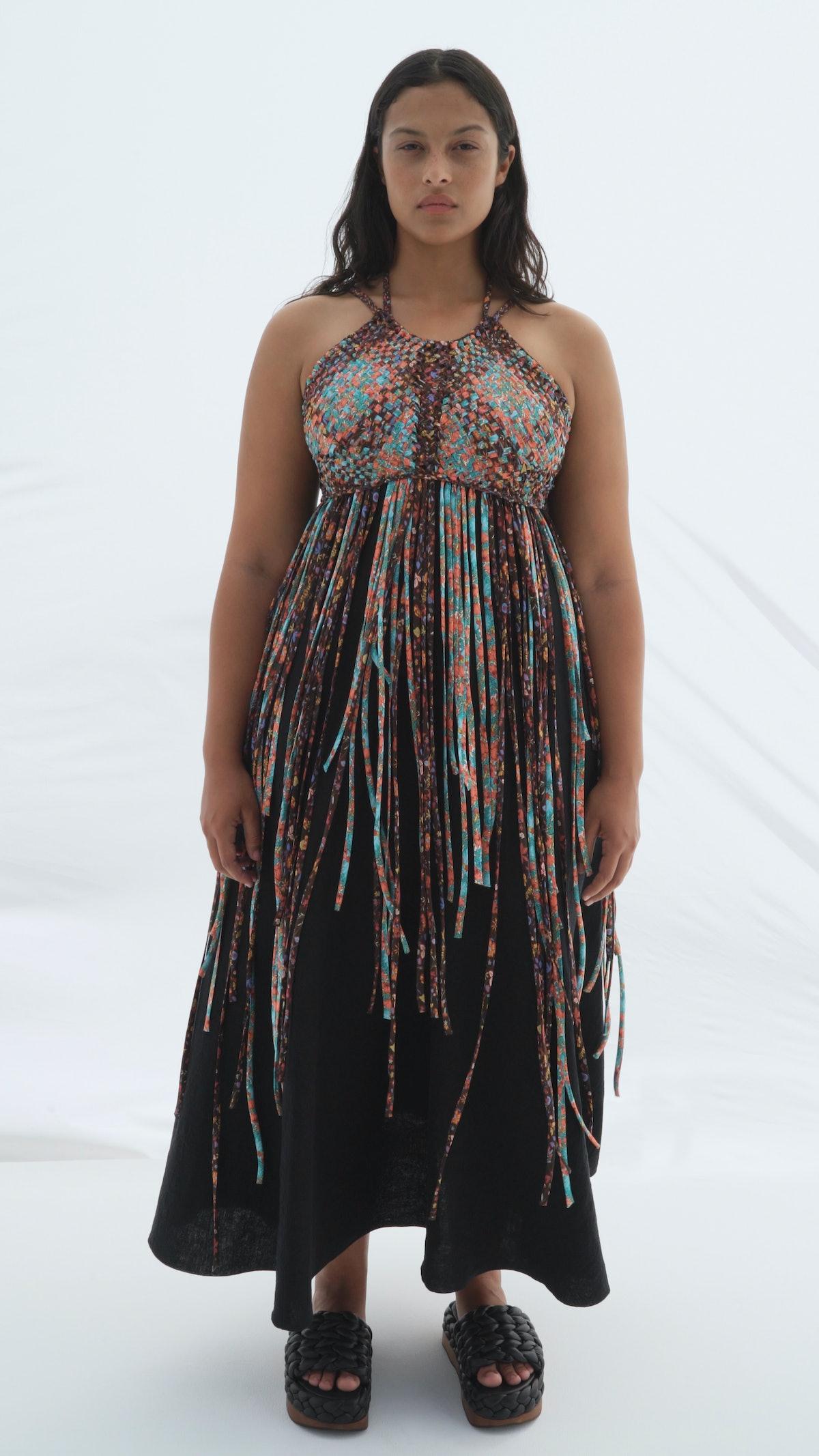 model in chloé dress