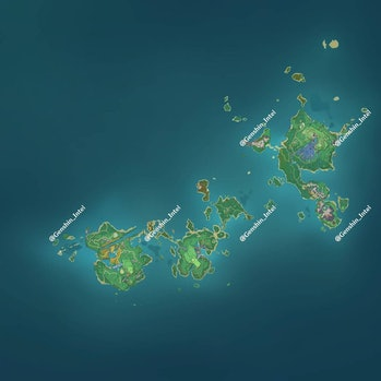 Full Inazuma Map Genshin Impact