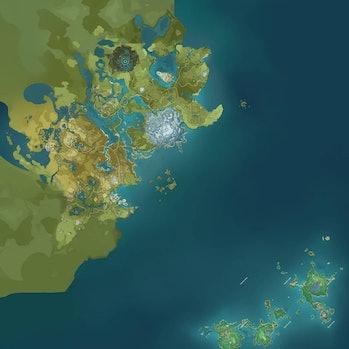 Full Genshin Impact Map Teyvat Inazuma Genshin Intel