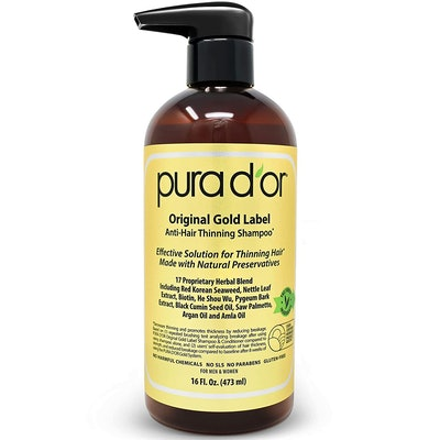 PURA D'OR Original Gold Label Anti-Thinning Biotin Shampoo, 16 Fl. Oz.