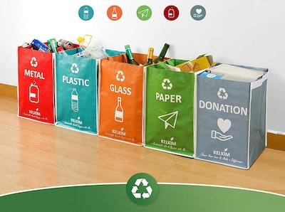 KELKIM Recycling Sorting Bags (6-Pack)