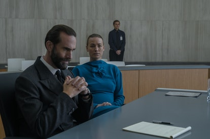 Joseph Fiennes and Yvonne Strahovski in The Handmaid's Tale via Hulu Press Site