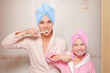 YoulerTex Microfiber Hair Towel Wrap (2 Pack)