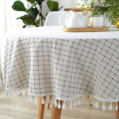 Lahome Checkered Tassel Tablecloth