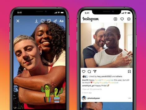Instagram's 2021 Pride features include rainbow hashtags for Pride Month terms as denoted by GLAAD