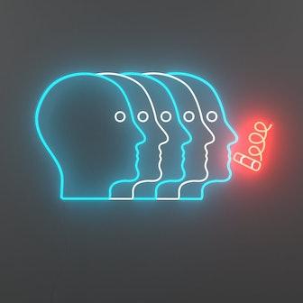 Atlas Long LED neon sign by Jonathan Adler